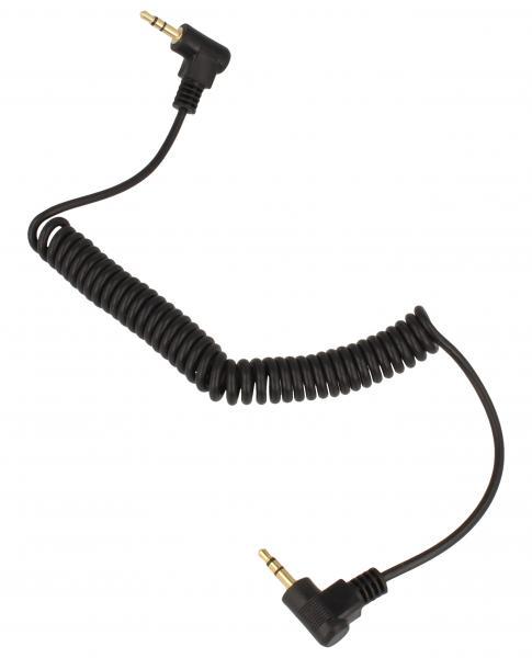 Kabel jack 3,5mm stereo wt/wt, 1,6m, spiralny czarny,0