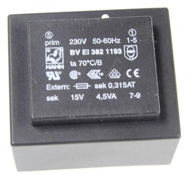 BVEI3821193 15V300MA PRINTTRAFO 230V EI38 4,5VA 35,1X41,0X28,1MM,0