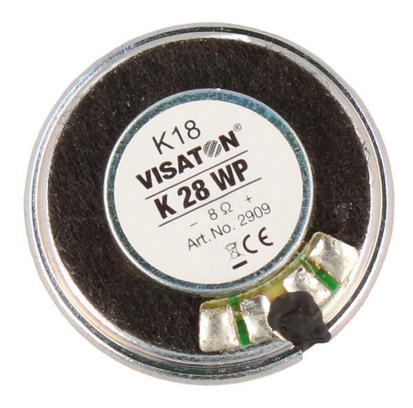 K28WP Głośnik miniaturowy K28WP, 8 Ohm, 1W, śr. 28mm VISATON,1