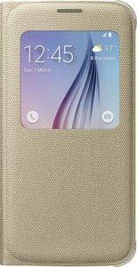 Pokrowiec | Etui S View tekstylne do smartfona Galaxy S6 EFCG920BFEGWW (złote),0