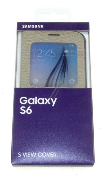 Pokrowiec | Etui S View tekstylne do smartfona Galaxy S6 EFCG920BFEGWW (złote),1