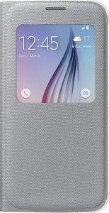 Pokrowiec | Etui S View tekstylne do smartfona Galaxy S6 EFCG920BSEGWW (srebrne),0