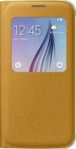 Pokrowiec | Etui S View tekstylne do smartfona Galaxy S6 EFCG920BYEGWW (żółte),0