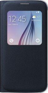 Pokrowiec   Etui S View tekstylne do smartfona Galaxy S6 EFCG920BBEGWW (czarne),0