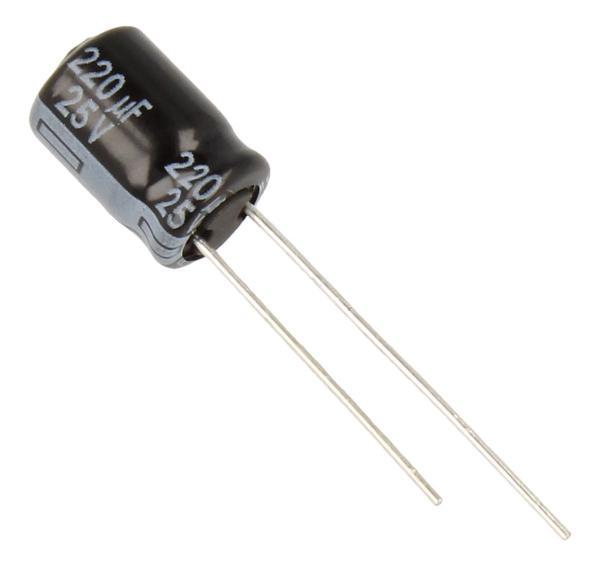 220uF | 25V Kondensator elektrolityczny 105°C EEUFR1E2218mm,0
