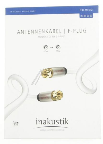 Kabel antenowy Złącze F 5m Inakustik (wtyk/wtyk),1