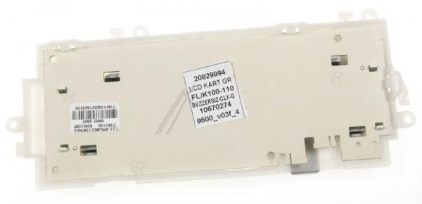 Moduł elektroniczny z modułem wyświetlacza do pralki 20829994,1