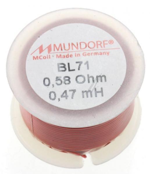 BL710,47 0,47MH0,58R MCOIL LUFT-SPULE, BACKLACK, 0,71MM-DRAHT, 30X20MM MUNDORF,0