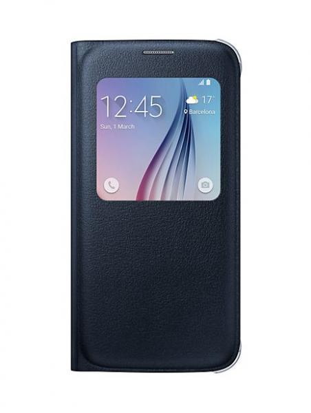 Pokrowiec | Etui S View do smartfona Galaxy S6 EFCG920PBEGWW (czarne),0