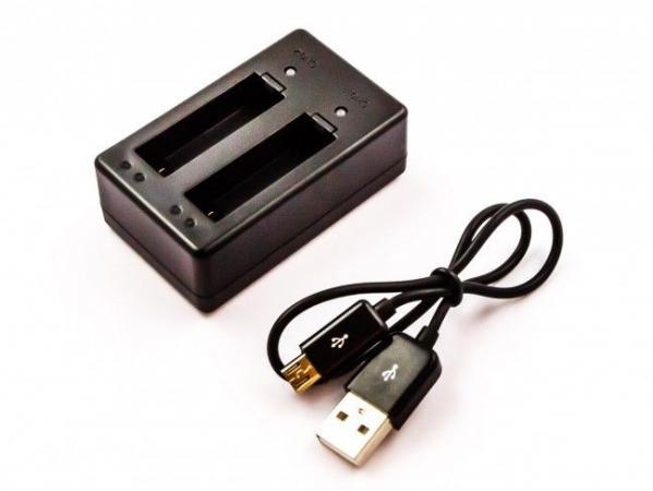 Ładowarka USB do GoPRO BT-401 z kablem USB, czarna,0