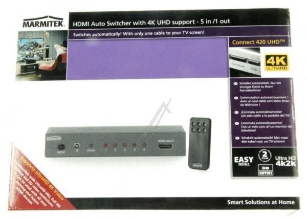 08249 CONNECT420UHD FULL HD 5 INPUT / 1 OUTPUT HDMI SWITCHER MIT 3D SUPPORT MARMITEK,3