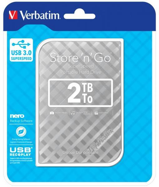 HDD | Dysk twardy Store `n` Go zewnętrzny USB 3.0 2TB Verbatim 53198,2