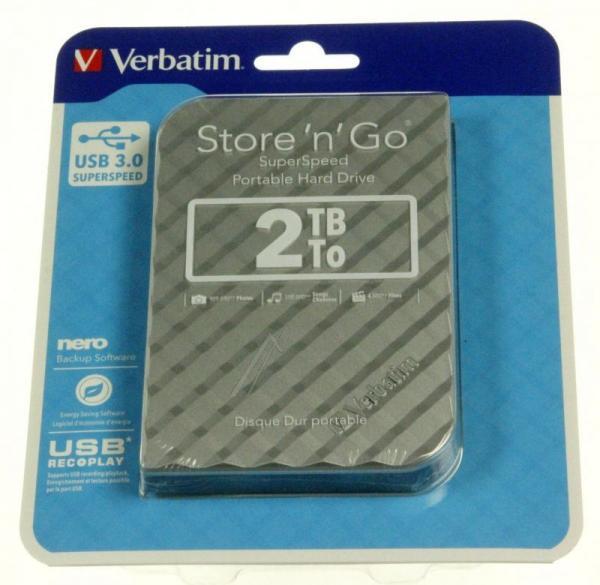 HDD | Dysk twardy Store `n` Go zewnętrzny USB 3.0 2TB Verbatim 53198,3