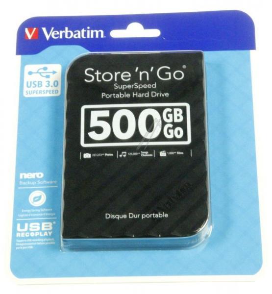 HDD | Dysk twardy Store `n` Go zewnętrzny USB 3.0 500GB Verbatim 53193,3