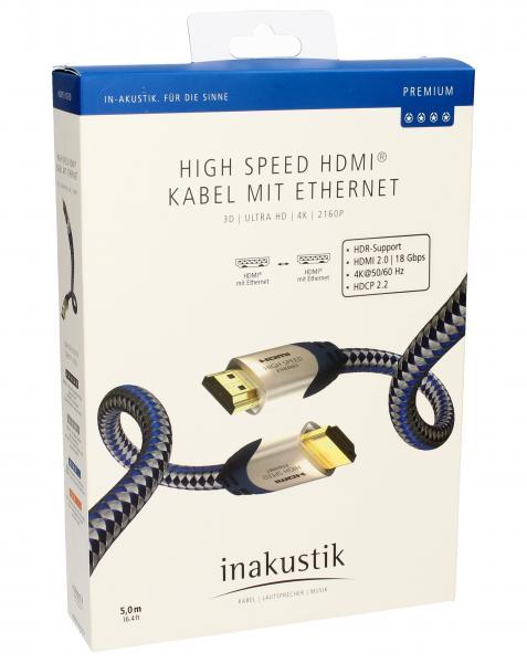 Kabel HDMI 5m Inakustik 0042305 (wtyk/wtyk),0