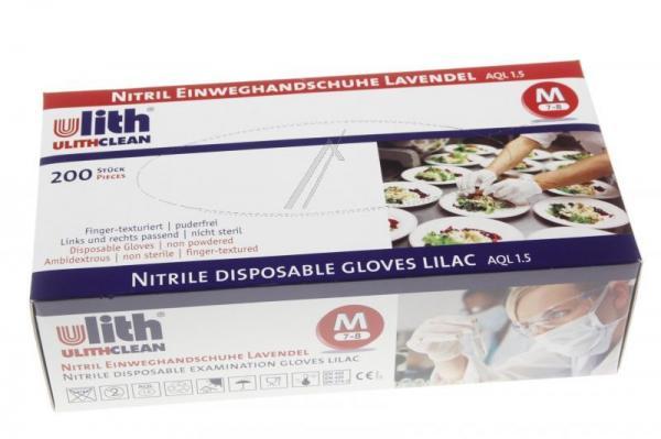 Nitrylowe rękawice jednorazowe, rozmiar M (7-8) 200 szt.,0