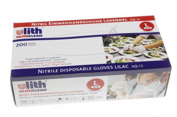 Nitrylowe rękawice jednorazowe, rozmiar L (8-9) 200 szt.,0