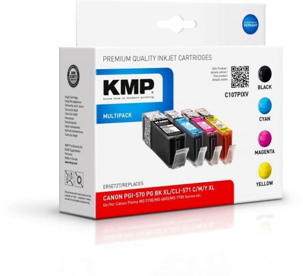 C107XV 1568,0050 TINTENPATRONEN, MULTIPACK, CMYK, 44ML KMP,0