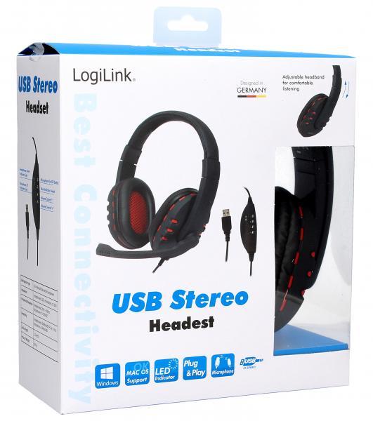 Słuchawki | Zestaw słuchawkowy na USB HS0033,0
