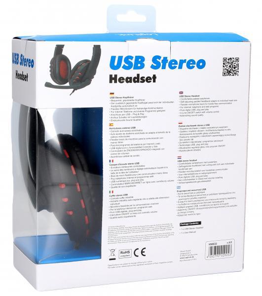 Słuchawki | Zestaw słuchawkowy na USB HS0033,1