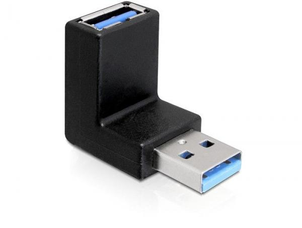 65339 ADAPTER USB 3.0 STECKER-BUCHSE GEWINKELT 90° VERTIKAL DELOCK,2