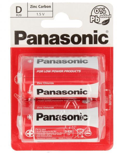 R20RZ2BP R20 1,5V bateria cynkowo-węglowa D 2 szt. PANASONIC,0