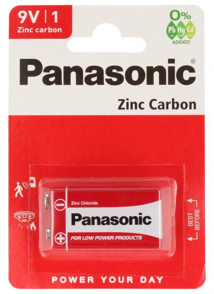 6F22RZ1BP 6F22 9V bateria cynkowo-węglowa 1 szt. PANASONIC,0