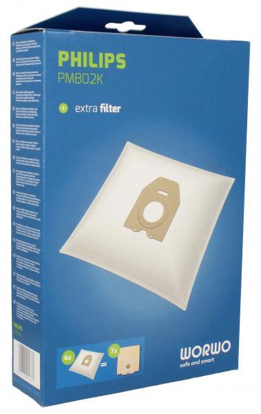Worki Perfect Bag Worwo (4szt.) + filtr wlotowy (1szt.) do odkurzacza PMB02K,0