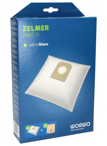 Worki Perfect Bag Worwo ZMB07K (4szt.) + filtr wlotowy / wylotowy (2szt.) do odkurzacza ZMB07K,0