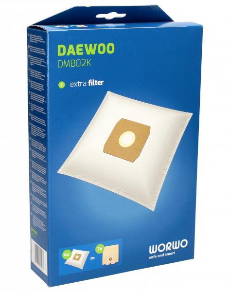 Worki Perfect Bag Worwo (4szt.) + filtr wlotowy (1szt.) do odkurzacza Daewoo DMB02K,0