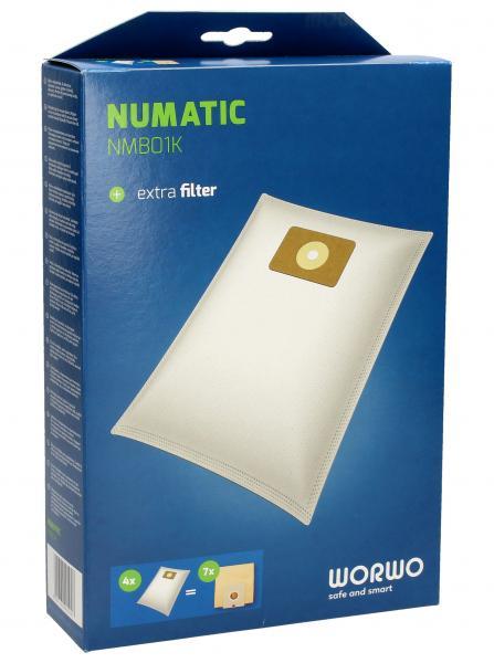 Worki Perfect Bag Worwo (4szt.) + filtr wlotowy do odkurzacza NMB01K,0