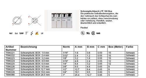 Koszulka | Rura termokurczliwa 1.6mm/0.8mm 15m,0