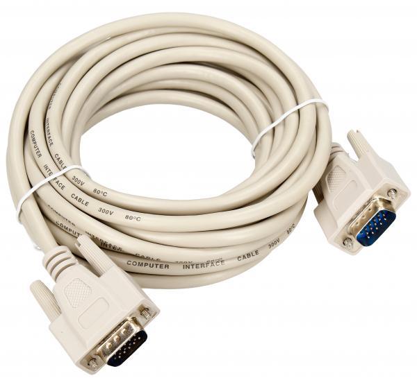 Kabel VGA (D-Sub) 5m (wtyk/wtyk) standard,0