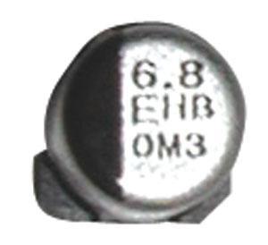 6.8uF   25V Kondensator elektrolityczny 105°C SMD 5.8mm/4mm,0