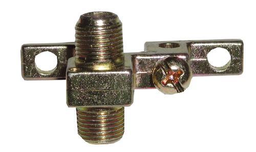 Adapter F- F montowany antenowy (gniazdo/gniazdo),0