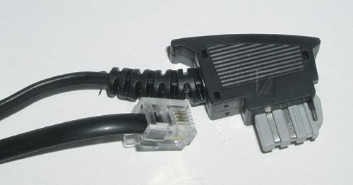 Kabel telefoniczny 3m 6P4C - TAE (wtyk/ wtyk),0