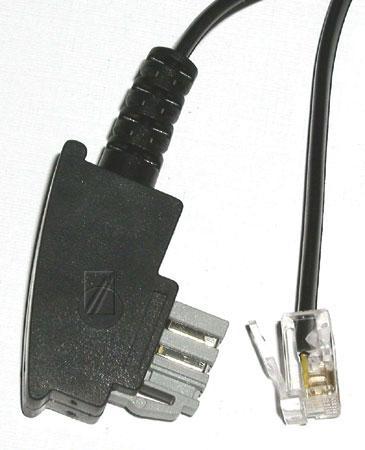 Kabel telefoniczny 10m 6P4C - TAE (wtyk/ wtyk),0