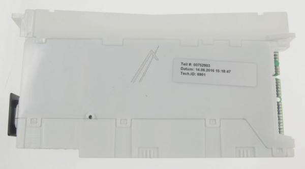 Moduł sterujący skonfigurowany do zmywarki 00752903,1