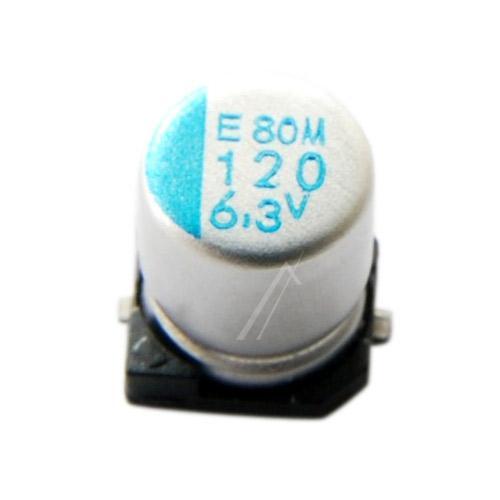 120uF   6.3V Kondensator elektrolityczny 105°C SMD 5.8mm/5mm,0