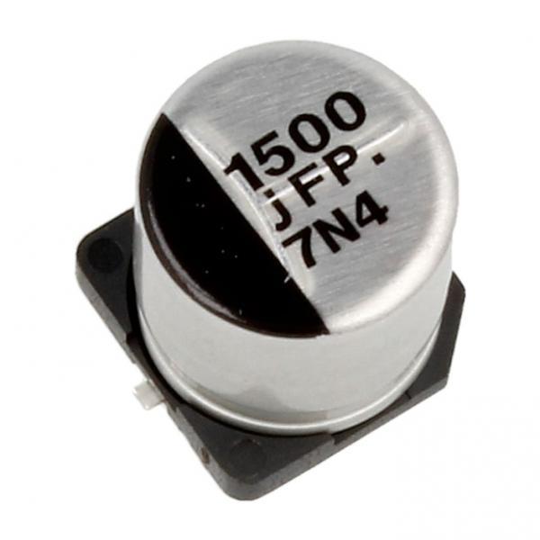 1500uF | 6.3V Kondensator elektrolityczny 105°C SMD 10mm/10mm,0
