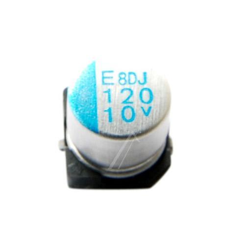 120uF | 10V Kondensator elektrolityczny 105°C SMD 5.8mm/6.3mm,0