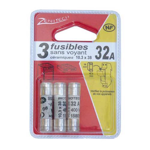 3 FUS. CERAM. 10,3X38 - 32A SANS VOYANT  - NF -,0