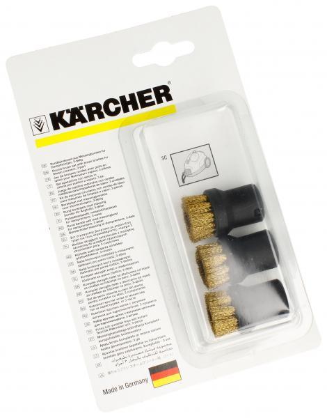 Zestaw szczotek okrągłych z mosiężną szczeciną do parownicy Karcher 28630610,0
