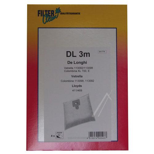 Worek DL3M do odkurzacza 4szt.,0
