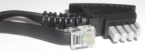 Kabel telefoniczny 3m 6P6C - TAE (wtyk/ wtyk),0