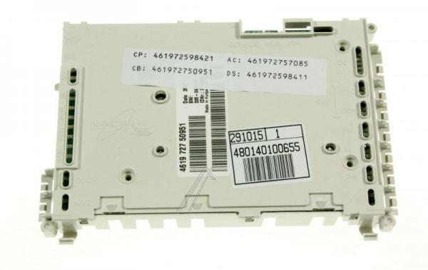 Moduł sterujący skonfigurowany do zmywarki 480140100655,0