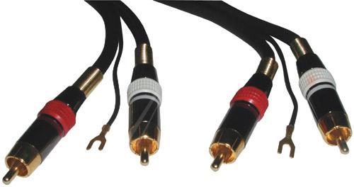 Kabel 10m CINCH/Uziemienie - CINCH (wtyk x2//Uziemienie wtyk x2) high end profi,0