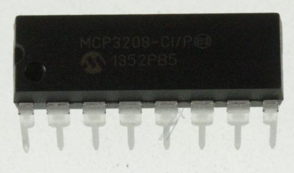 MCP3208CIP 12BIT ADC,3208,DIP16 TYP:MCP3208-CI/P,0