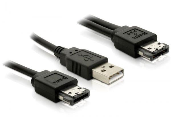Adapter USB A - eSATA (wtyk/ gniazdo) 84387,1