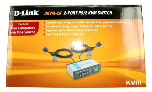 Switch | Przełącznik KVM D-Link DKVM2K,0